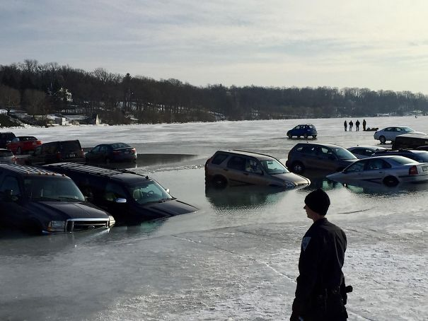 Parking On The Ice