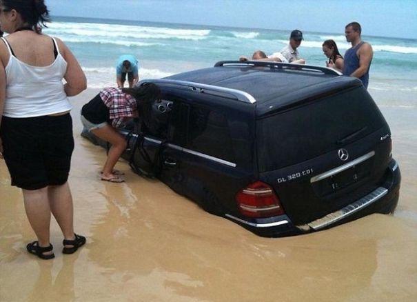 Do Not Park On The Beach
