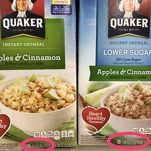 Quaker Oatmeal Advertises 35% Less Sugar, But In Reality They're Just Selling 35% Smaller Portions - But For The Same Price