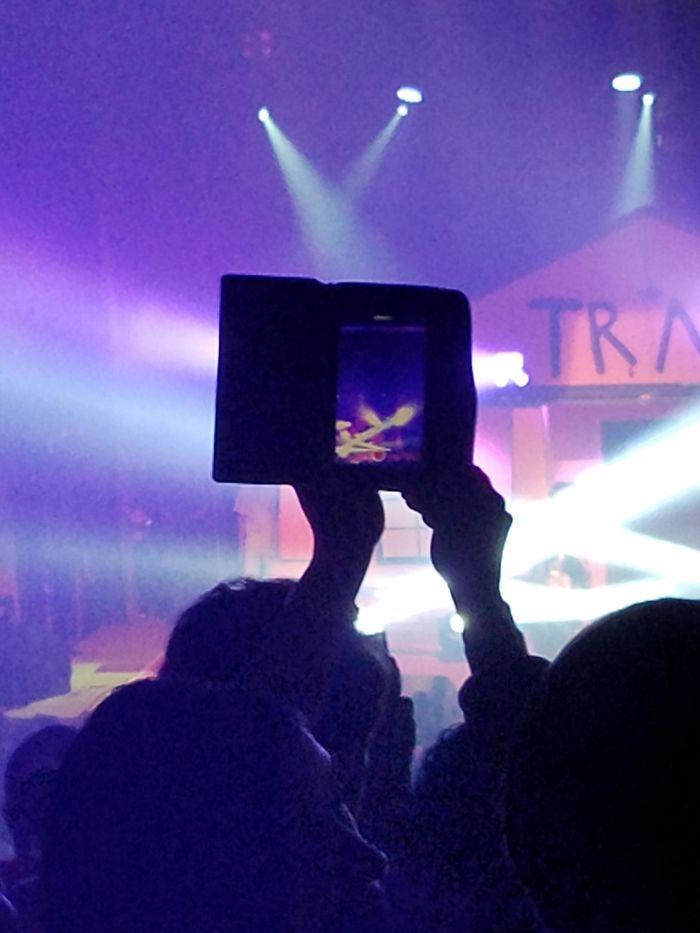 Los que hacen fotos o vídeos así en los conciertos