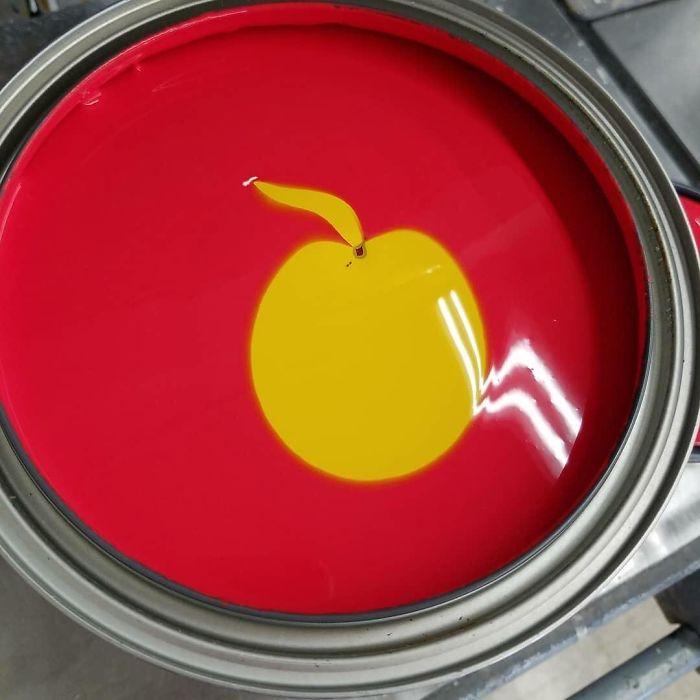 Paint Tint Came Out As An Apple