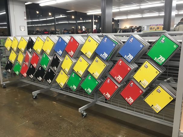 This Display Of Notebooks At My Local Goodwill Looks Like Modern Art