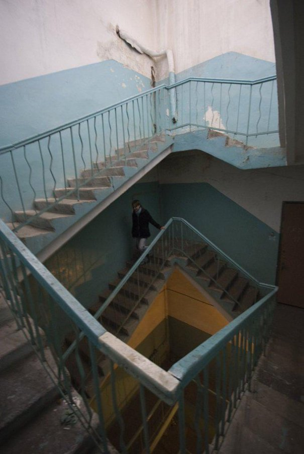 Crazy Stairs Look Like A M.C. Escher Painting, Not Sure Why Anybody Would Build Like This