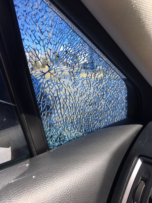 The Way My Friend's Window Splintered Was As Though Two Atoms Were Cataclysmically Colliding