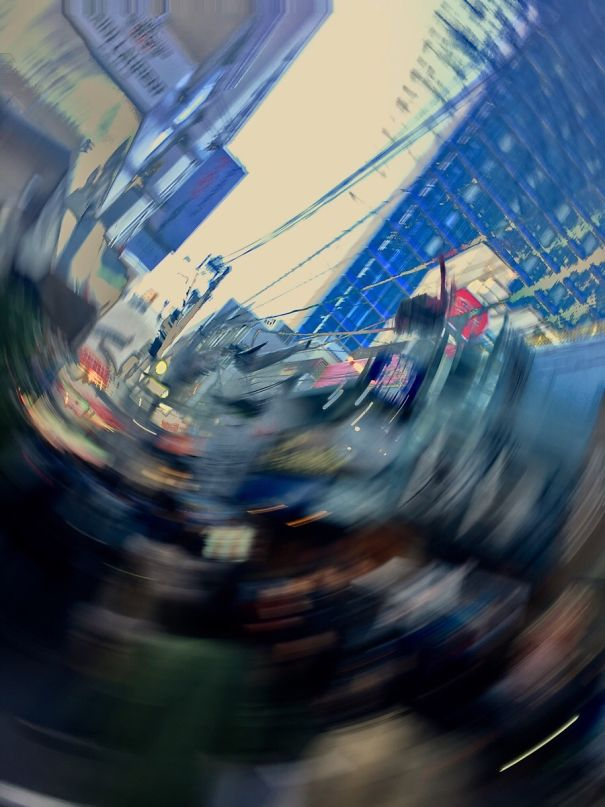 Dropped Phone Whilst Taking A Pic In Tokyo, Japan. Accidental Abstract Art