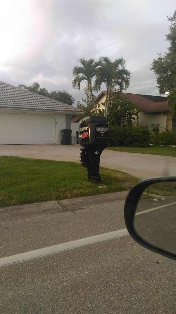 This Guy's Mailbox Is A Boat Engine