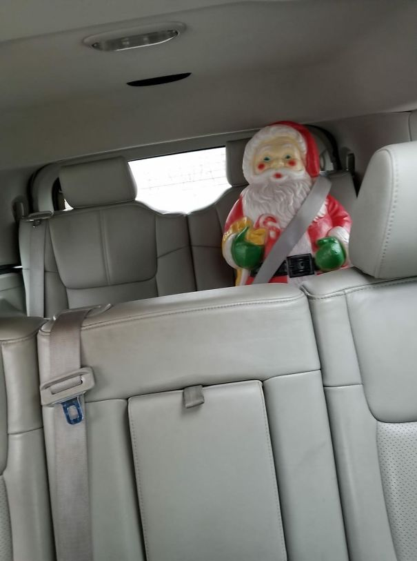 My 9-Year-Old Left A Surprise For My Wife. Scaring The Shit Out Of Her When She Checked The Rear View