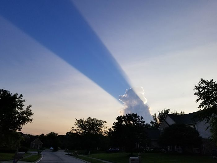 Cloud Forms A Shadow On The Sky