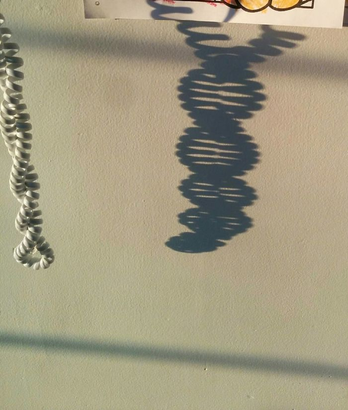 Phone Cord Shadow Looks Like DNA