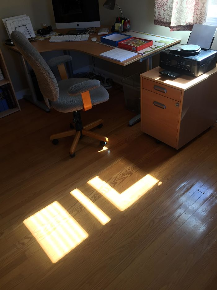 The Light And Shadow In My Office Spells Out 'Oil'