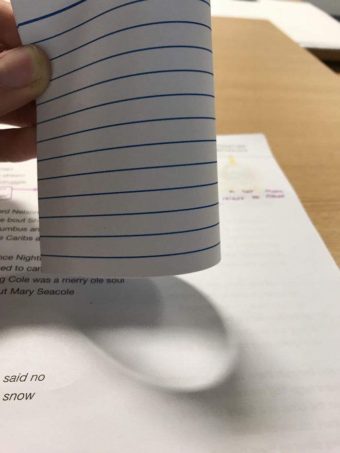 This Weird Shadow My Paper Made