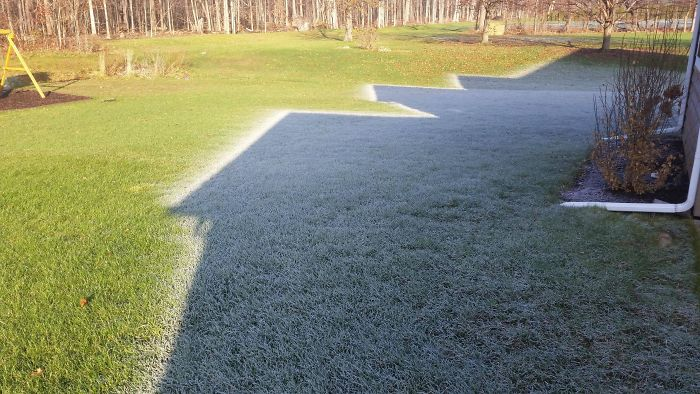 The Morning Frost In The Shadow Of My Home