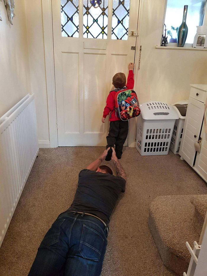 My Son's First Day At School Today. I Handled It Really Well