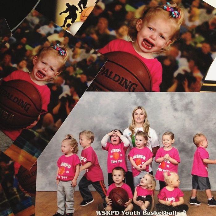 Las fotos del equipo de baloncesto de mi hija