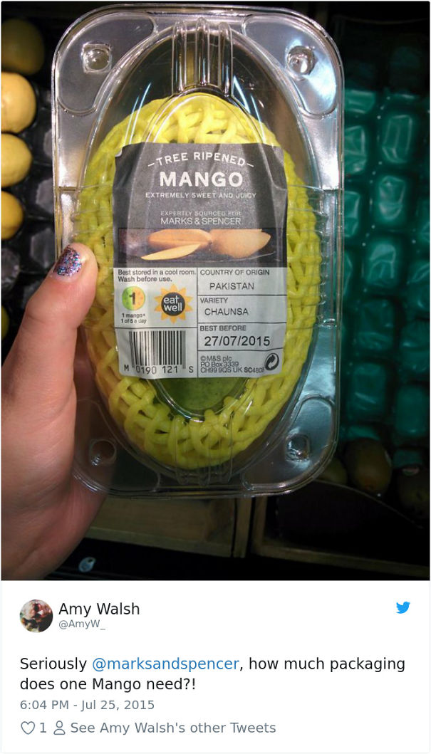All This Packaging For A Single Mango