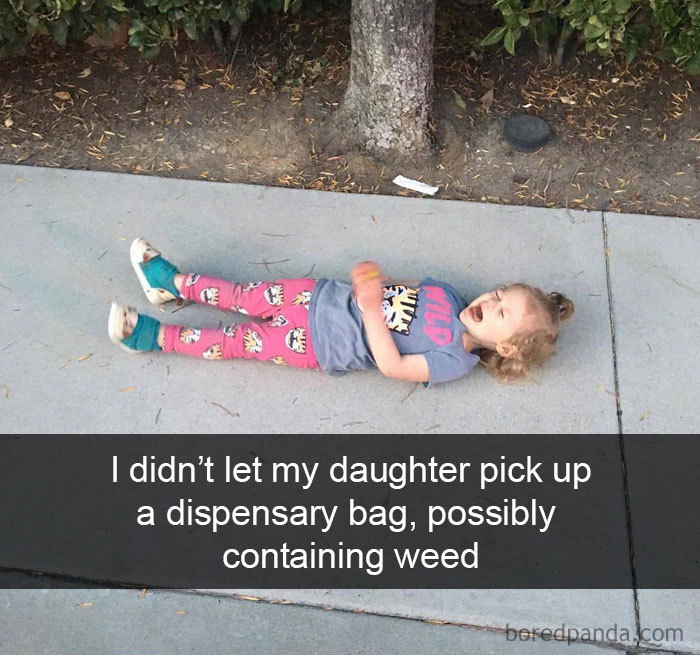 I Didn't Let My Daughter Pick Up A Dispensary Bag, Possibly Containing Weed