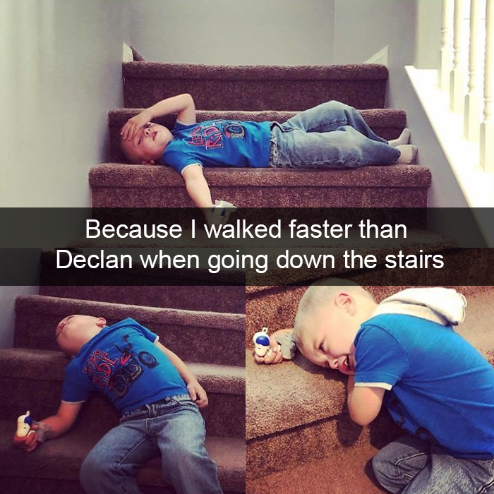 Because I Walked Faster Than Declan When Going Down The Stairs