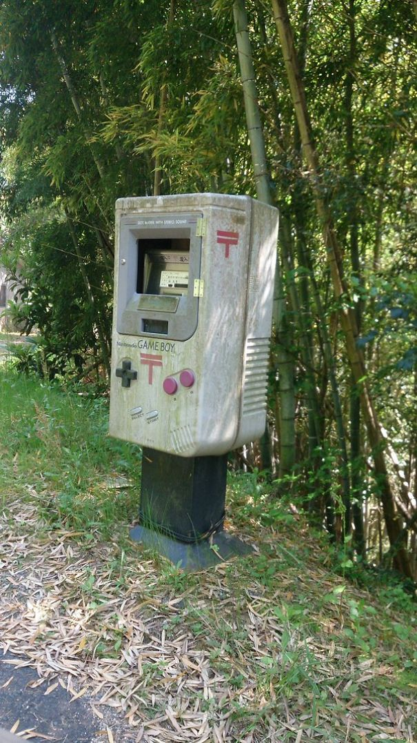 Mailbox Cosplaying As A Gameboy