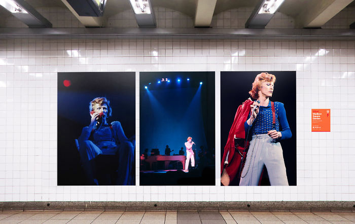 David Bowie Receives Tribute At New York Subway Station