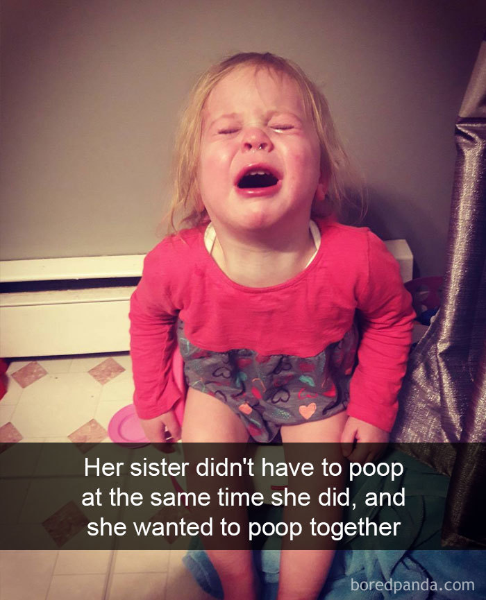 Her Sister Didn't Have To Poop At The Same Time She Did, And She Wanted To Poop Together