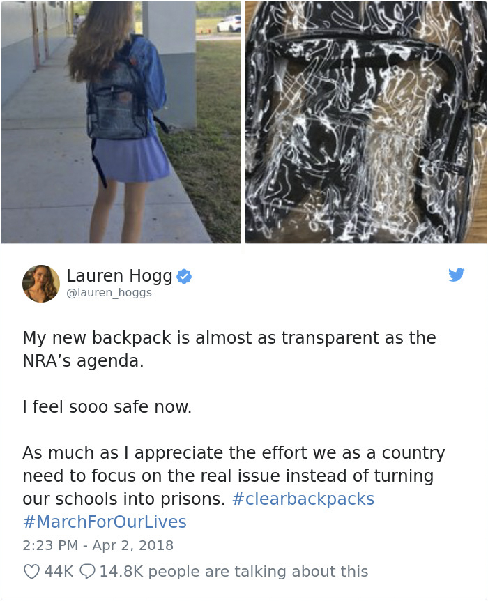 Transparent Backpacks Students Response