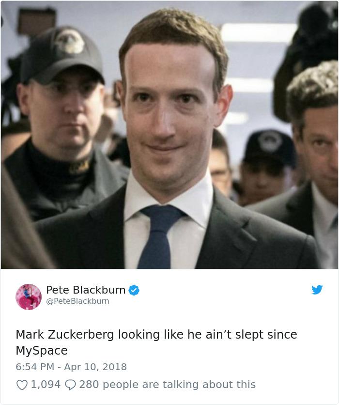 58 Urkomische Wege, wie das Internet Mark Zuckerberg vor dem Kongress aussagte |  Gelangweilter Panda