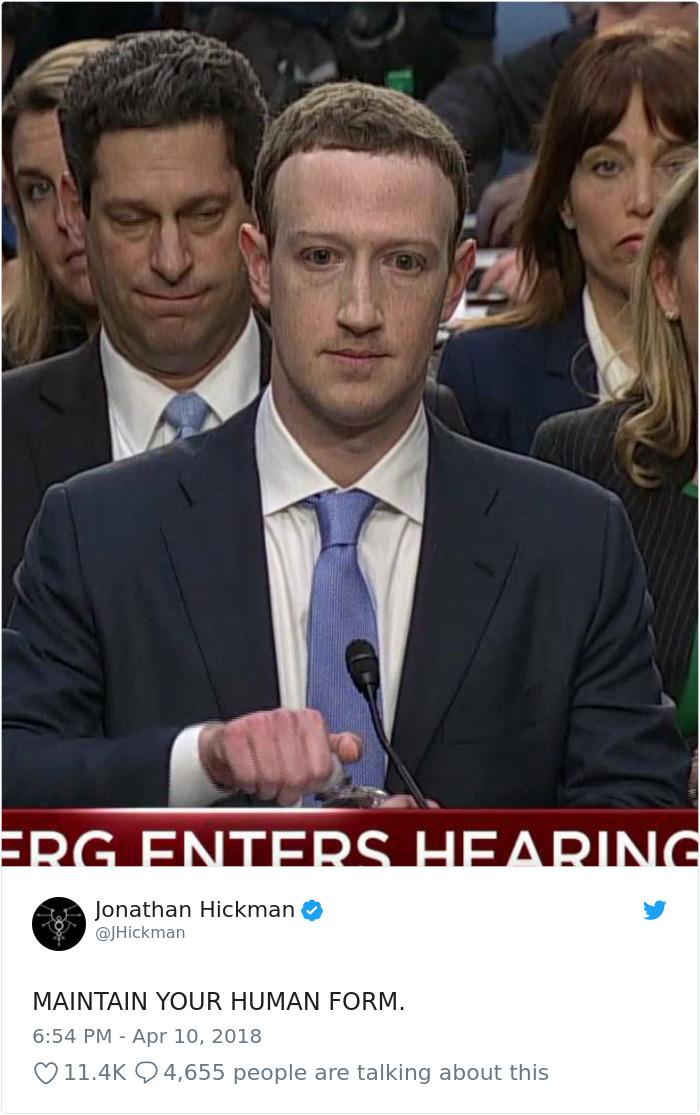 Cambridge Analytica Congress Testifying Mark Zuckerberg