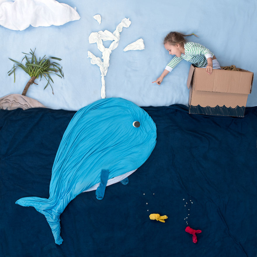 Scene From The Ceiling: I Create Fun Settings Using Everyday Items