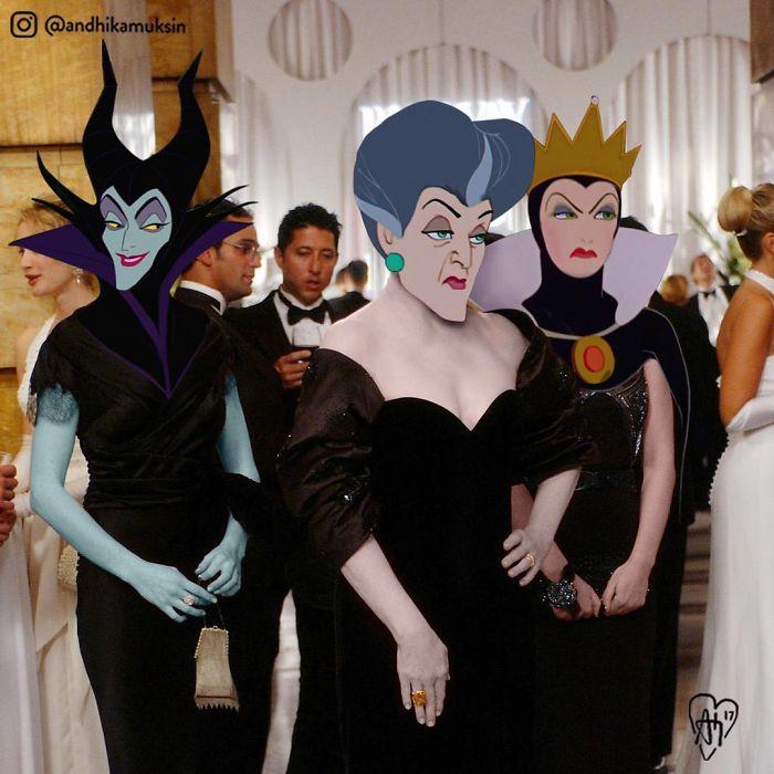 Artist Photoshops Disney Princesses Into Celebrity Photos