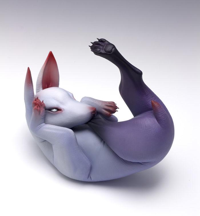 Freaky-Cute-Ceramic-Creatures-Erika-Sculpture