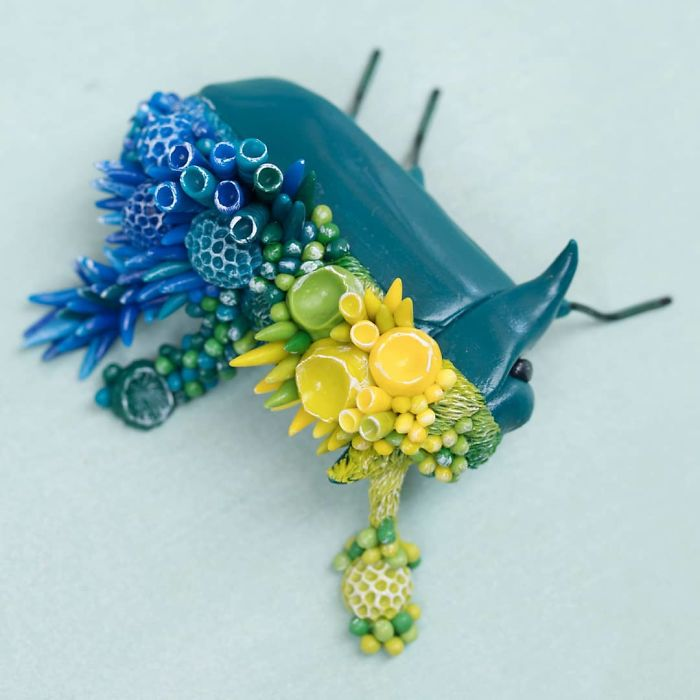 Artist Makes Unexpectedly Colorful Life Forms Grow Out Of Trash