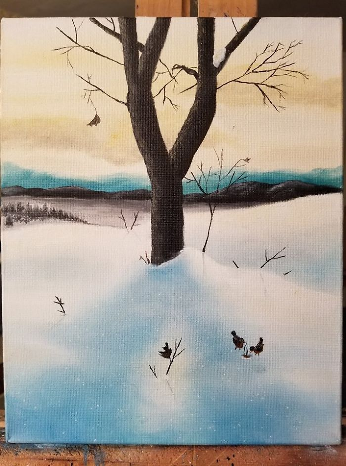 Oil Painting I Did To Donate To Our Local Walk & Auction For Autism