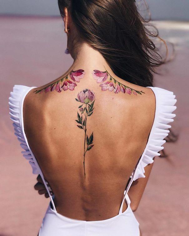 Spine Tattoo Design