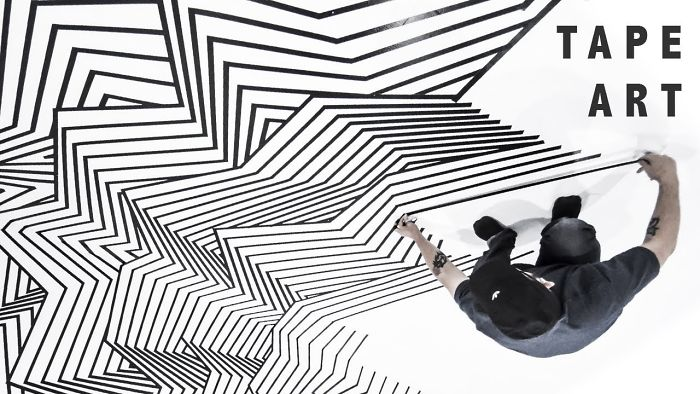 Tape Installation At The Museum Of Selfies In Glendale, California