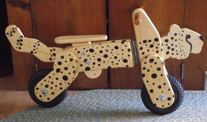 Cheetah-Themed Standing Bike!