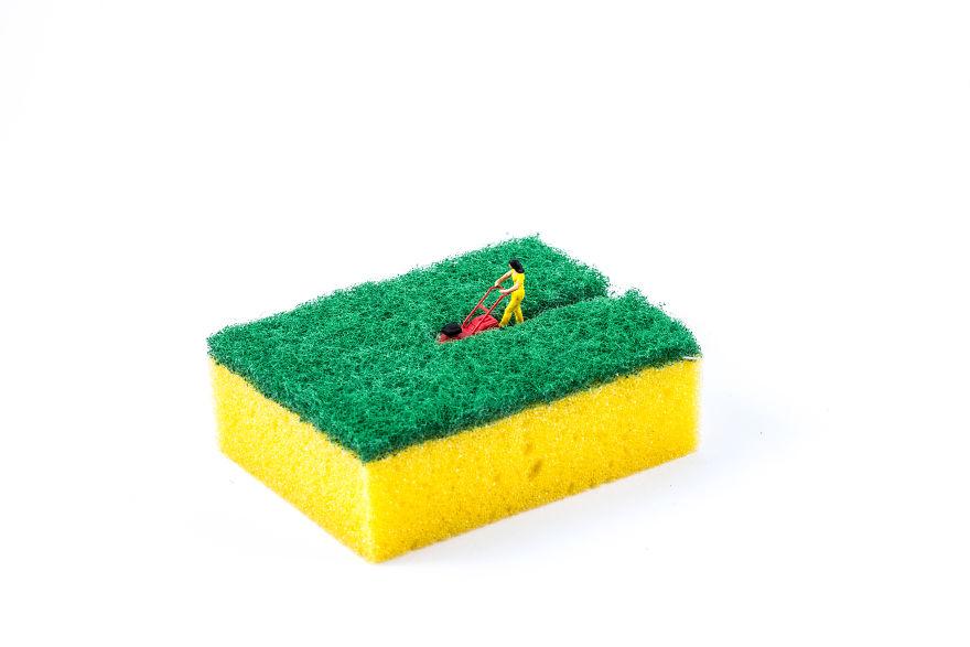 Sponge Mower