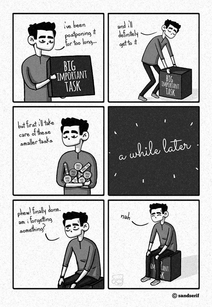I Make Dark And Amusing Comics About My Life To Express Myself