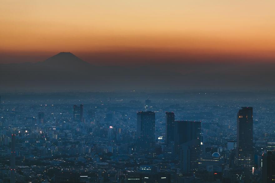 Mount Fuji From Roppongi Hills