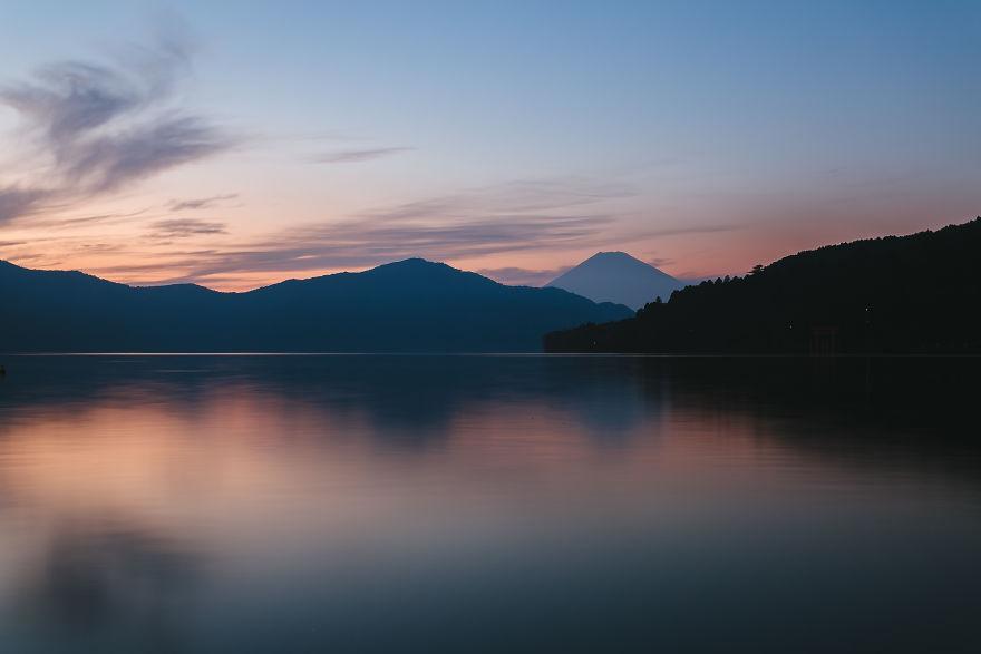 Lake Ashinoko Sunset