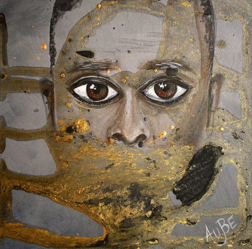 i ve created abstract portraits of people who have eyes conversation