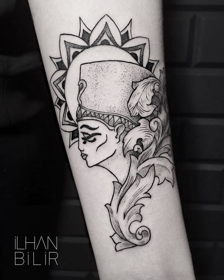 Simplicity, Contrast And Dotwork: Tattoo Artist Ilhan Bilir Creates Remarkable Skin Art
