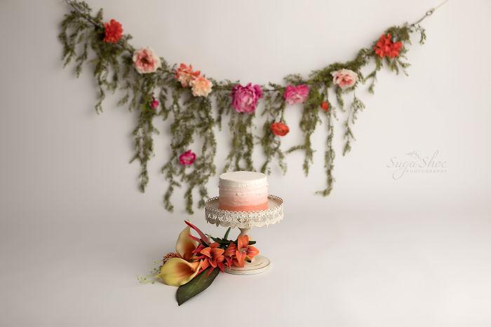 Boho Flower Cake Smash Session By Sugashoc Photography