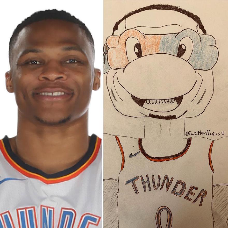 Russell Westbrook Fan Art