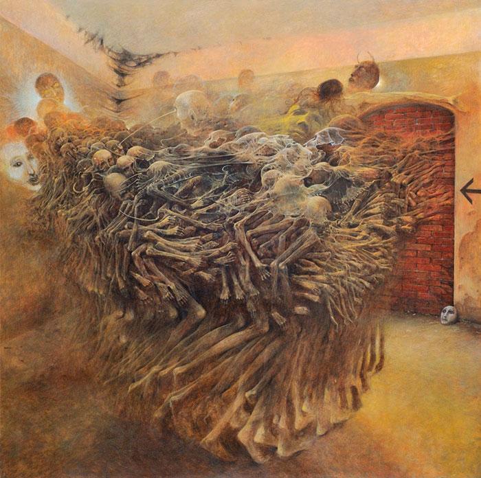 Untitled Painting. Zdzisław Beksiński