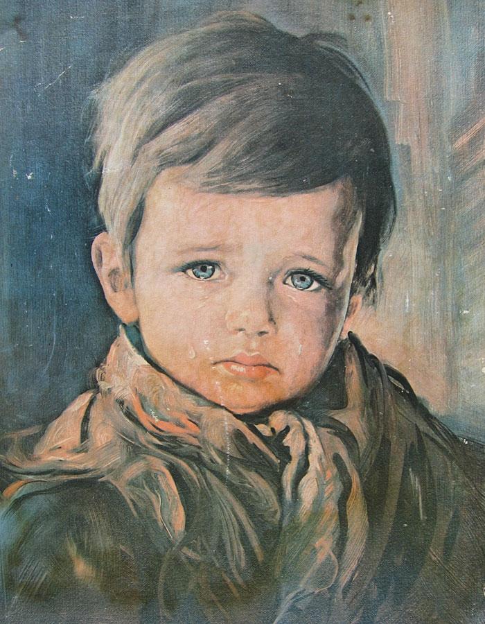 The Crying Boy. Giovanni Bragolin