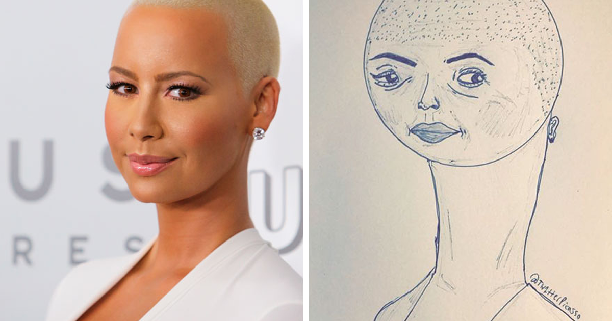 30 hilariously accurate celebrity portraits by tw1tter picasso