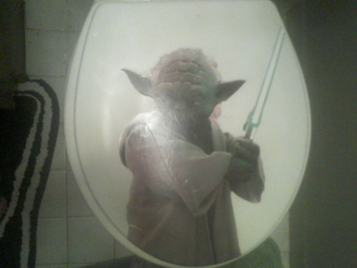 Yoda Toilet Seat, Made For The Husband. The Seat Glows In The Dark.