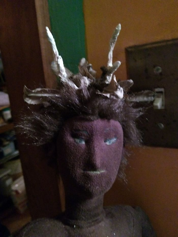 This Amaxing Doll I Made. You Cant See The Rest Of Him, I've Made No Clothes For Him Yet.