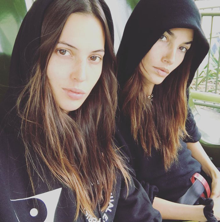 Lily Aldridge With Her Sister Ruby