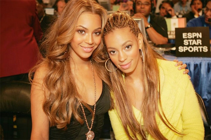 Beyonce With Her Sister Solange